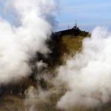 Репитер na górze горы стоковая фотография