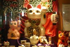 Реплика кота в музее стоковое изображение