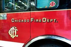 Репортаж огня Чикаго стоковое фото