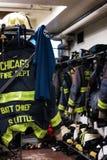 Репортаж огня Чикаго стоковое изображение rf