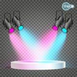 Репроектор светлый прибор который перераспределяет свет лампы Стоковые Фото