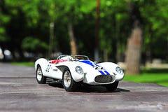 Реплика масштабной модели гоночного автомобиля обвайзера понтона Rossa Testa Феррари Стоковая Фотография RF