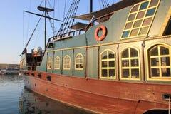 Реплика средневекового военного корабля пирата Стоковые Изображения RF