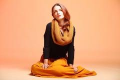 Ресницы девушки женщины моды осени свежие Стоковое Изображение RF