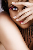 ресницы пряча женщину Стоковое Изображение RF