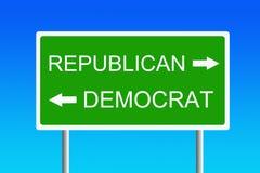 республиканец демократа против Стоковое фото RF