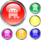 республиканец кнопки иллюстрация штока