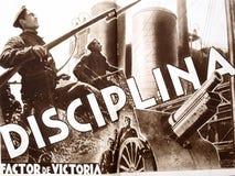 Республиканский плакат: Дисциплина `, гражданская война испанского языка ` фактора победы иллюстрация вектора