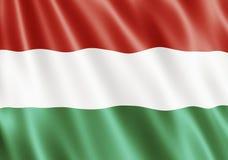 республика Венгрии флага Стоковая Фотография RF