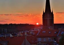республика 2009 европы prague эмблемы дверей церков чехословакская Стоковая Фотография