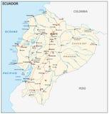 Республика карты вектора дороги эквадора стоковое фото