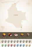 Республика Колумбии Стоковая Фотография
