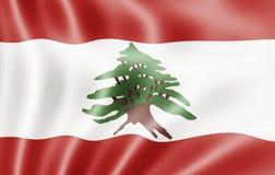 республика Ливана флага ливанская Стоковое Изображение