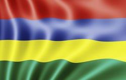 республика Маврикия флага Стоковое Изображение RF
