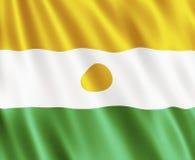 республика Нигерии флага Стоковое Изображение RF