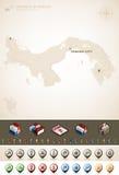 Республика Панамы Стоковое Изображение