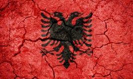 республика флага Албании Стоковая Фотография