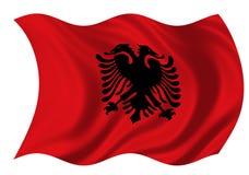 республика флага Албании Стоковое Изображение RF
