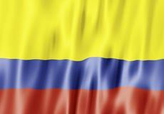 республика флага Колумбии Стоковое Изображение