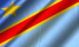 республика флага Конго демократическая Стоковые Фотографии RF