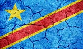 республика флага Конго демократическая Стоковое Изображение