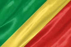 республика флага Конго иллюстрация вектора