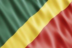 республика флага Конго Стоковые Изображения