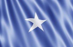 республика флага сомалийская Стоковая Фотография
