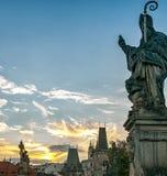 республика charles чехословакская prague моста Стоковое фото RF