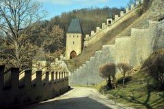 республика karlstejn замока чехословакская Стоковое фото RF