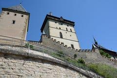 республика karlstejn замока чехословакская стоковое фото