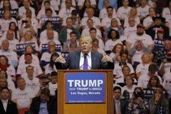 Республиканское ралли кампании Дональд Трамп кандидата в президенты на южных арене & казино пункта в Лас-Вегас стоковые изображения rf