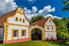Республика традиционной фермы дом-чехословакская, Европа Стоковые Изображения