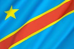 республика флага Конго демократическая Стоковое Фото