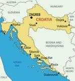 Республика Хорватия - карта вектора Стоковые Фото
