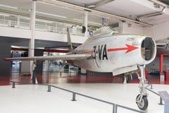 Республика F-84F Thunderstreak 1950 в музее астронавтического Стоковые Фото