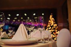 Ресторанное обслуживаниа Нового Года красивое Стоковое Изображение RF