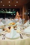 Ресторанное обслуживаниа Нового Года красивое Стоковая Фотография RF