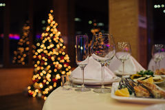 Ресторанное обслуживаниа рождества красивое Стоковые Изображения