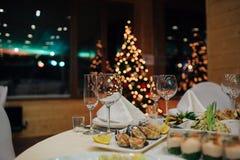 Ресторанное обслуживаниа рождества красивое Стоковые Фото