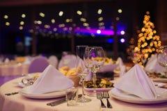 Ресторанное обслуживаниа рождества красивое Стоковое фото RF
