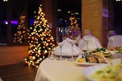 Ресторанное обслуживаниа рождества красивое Стоковое Изображение