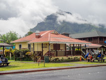 Рестораны и торговый участок в Hanalei стоковые изображения rf