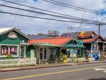 Рестораны и торговый участок в Hanalei стоковая фотография rf