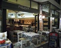 Ресторан Афин традиционный Стоковые Изображения RF