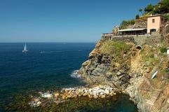 ресторан берега океана Стоковая Фотография