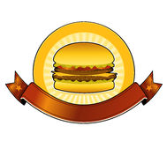 ресторан бургера знамени Стоковое Изображение