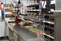 ресторан быстро-приготовленное питания Стоковые Изображения