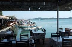 Ресторан взморья Стоковое Изображение RF