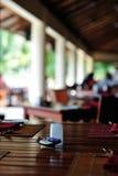 Ресторан в роскошном пляжном комплексе песка Стоковое Изображение RF